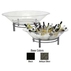 1BLRE32SET S LED 32 Round Ice Display Tray And Stand With 2 LED