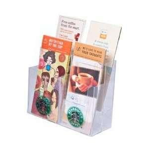 Brochure Holder Holds 4 X 9 Tri fold Brochures Clear Acrylic