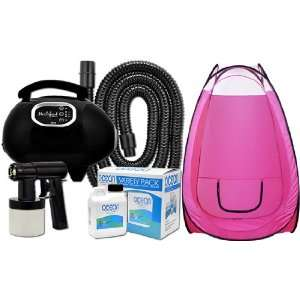 Solution Tanning KIT PINK TENT Machine Heat Airbrush Tan Air Brush