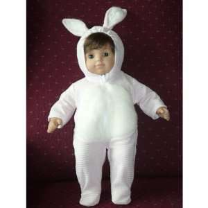 Bunny Costume   fits American Girl 15 Bitty Baby & Bitty Twin Dolls