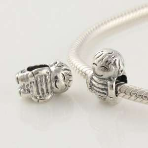 925 Sterling Silver European Style Antique Silver Little Boy Charms