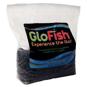 Glofish 5 Pound Aquarium Gravel Bag, Solid Black Pet