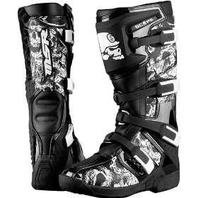 Mulisha Scope Mens MX Motorcycle Boots   Black / Size 9 Automotive