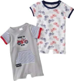 Cutie Pie Baby boys Infant 2 Pack Bike Romper with Hanger Clothing