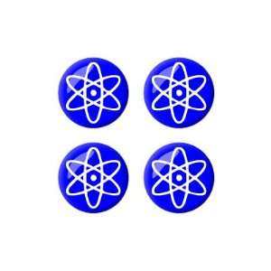 Symbol White Blue   Wheel Center Cap 3D Domed Set of 4 Stickers Badges