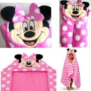 DISNEY MINNIE MOUSE TOWEL HOODED TOWEL BATH TOWEL BEACH TOWEL