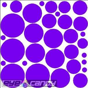 Purple Polka Dots Wall Stickers Decals Words Bedding