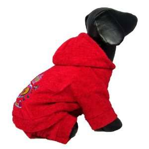 Dog and Cat Cheerful High Quality PAJAMAS   Large   Red