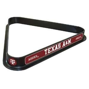NCAA Texas A&M Billiard Ball Triangle Rack: Sports & Outdoors