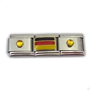 german Flag and birthstones modules, Classic italy bracelet modul