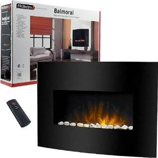 Balmoral Black Arch Glass Panel Electric Fireplace