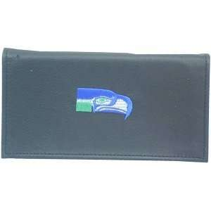 NFL SEATTLE SEAHAWKS FOOTBALL LEATHER CHECKBOOK COVER