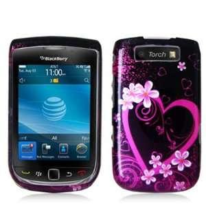 BlackBerry Torch 9800 Graphic Case   Purple Love Cell
