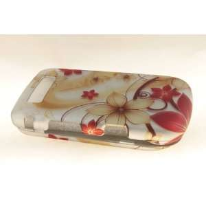 Blackberry Torch 9800 Hard Case Cover for Red Flower Cell