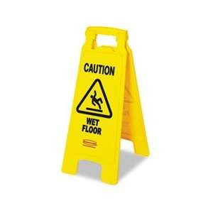 Floor Floor Sign, Plastic, 11 x 1 1/2 x 26, Bright Yellow Home