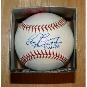 Tom Browning Autographed Baseball Signed Reds Perfect Game