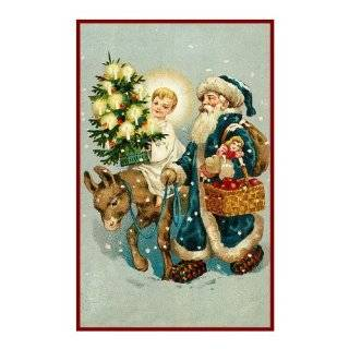 Counted Cross Stitch Chart Victorian Father Christmas Santa with Child