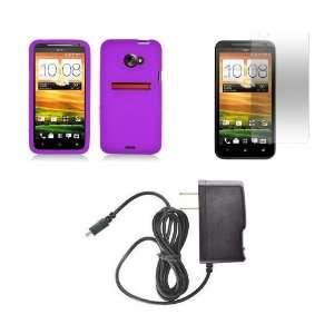 4G LTE (Sprint) Premium Combo Pack   Purple Silicone Skin Case Cover