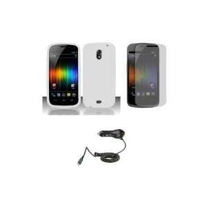 (Verizon) Premium Combo Pack   White Silicone Soft Skin Case Cover