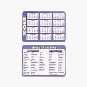 Books Of The Bible 2012 Calendar Wallet Card