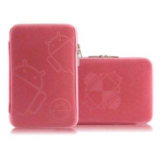 8 inch Pink Sparse Floral Zipper Carry Pouch Case Tablet