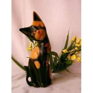 Friends 7.5 Sitting Black Cat Figurine