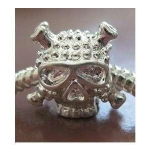 Skull Bead Fits European Pandora Chamilia Style Bracelet