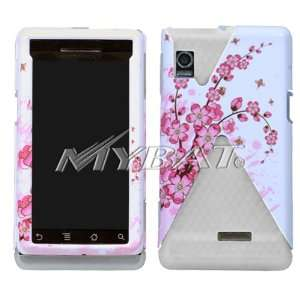 Motorola A855 Droid Pink and White Japanese Cherry Blossoms Flowers