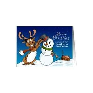 Christmas Deer   Merry Christmas for Daughter & Son in Law Card