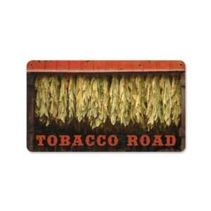 Tobacco Road Vintage Metal Sign Cigarette Farm Garden 14 X