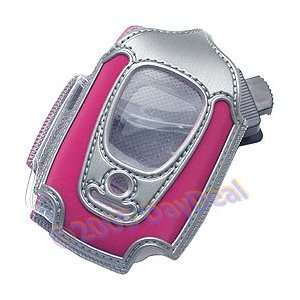 Hot Pink & Silver Clam Shell Carrying Case for Nextel i560
