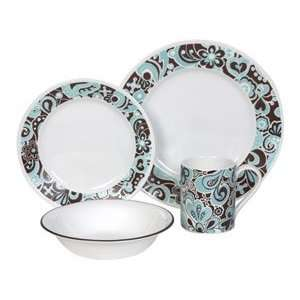 Corelle Lifestyles Carousel Dinnerware Set 16 pc. Kitchen
