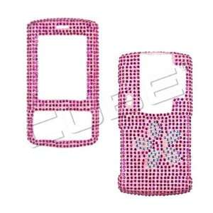 Handmade Flowers Bling Crystal Diamond Stone Pink Protective Cover