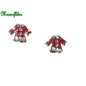 Cute Swarovski Crystal Red Dress Earrings