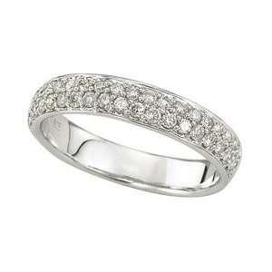 Pave 2 Row, Diamond Anniversary Band Ring (0.50 Ctw)