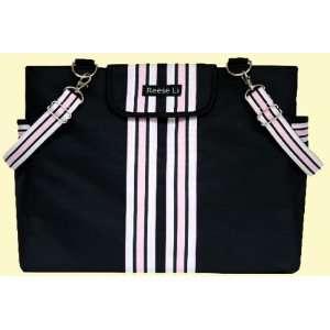 Reese Li Lexington Black Pink Diaper Bag Baby
