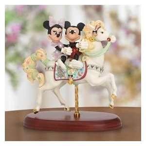 Lenox Disney Mickeys Carousel Romance Figurine