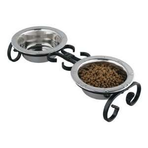 QT Dog 300   X Small Classic Wrought Iron Dog Feeder
