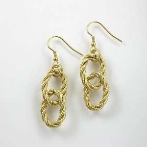 Stunning 18 Karat Gold Plated Double Hoop Earrings Jewelry