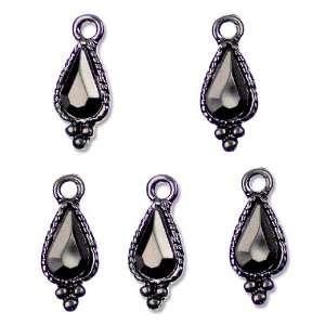 Cousin Jewelry Basics 5 Piece Metal Charm Black/Crystals Drop