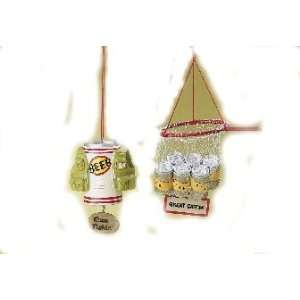 Fishing Gear Christmas Ornaments (set of 2) Sports
