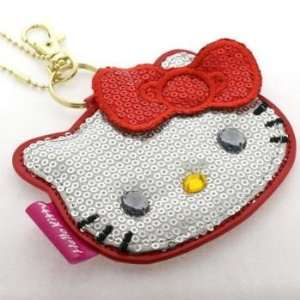Sanrio Hello Kitty Sparkling Face Mirror Ball Chain (Red) Electronics