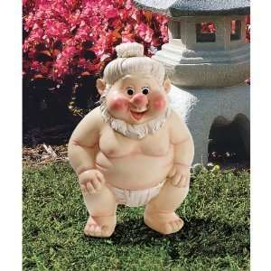 Sumo Gnome Home Garden Sculpture Statue Figurine Home & Kitchen