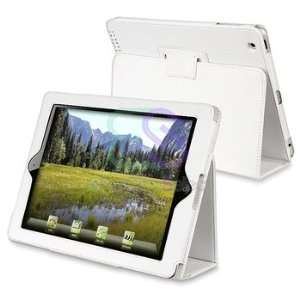 For New iPad 3 rd 3rd White Stand Folio Flip Leather Case