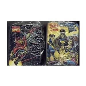 MARVEL COMICS TIN BOXES  X MEN/IRON MAN Toys & Games