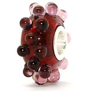 Glass Sterling Silver Solid Core Bead fits European Charm Bracelet