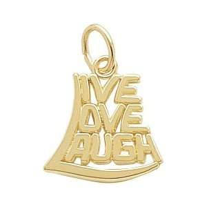 Rembrandt Charms Live Love Laugh Charm, 14K Yellow Gold Jewelry