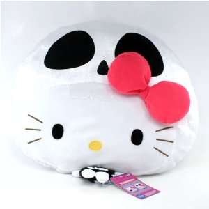 Kitty Skull Cushion   Hello Kitty with a Skelleton Head: Toys & Games