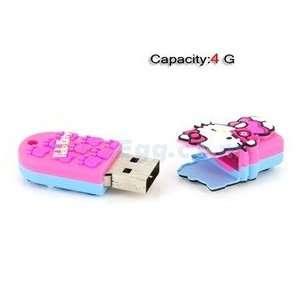 4GB Kitty USB Flash Drives U Disk (Pink & Blue