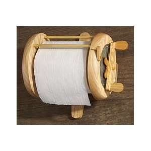 Wood Fishing Reel Toilet Paper Holder